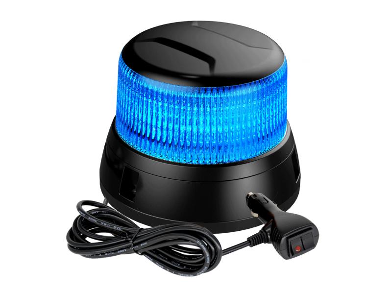 Allround signal LIBRA magneet zwaailamp BLAUW LED heldere lens