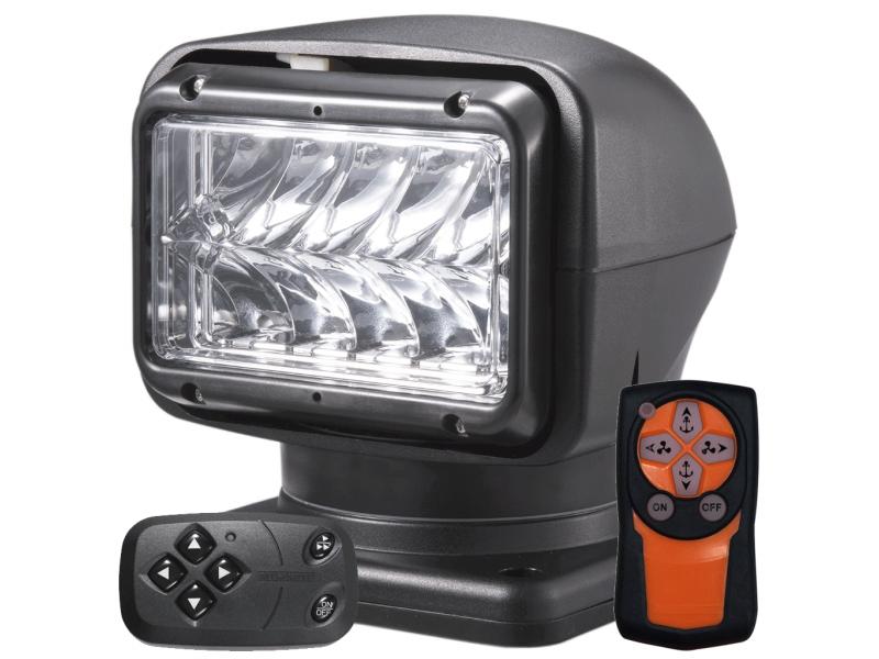 M220 LED zoeklamp ZWART met afstandsbediening