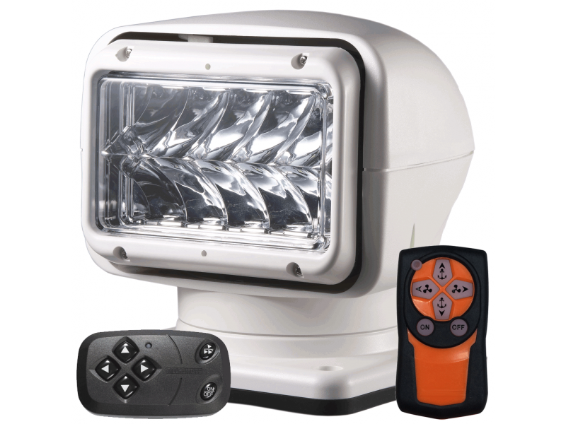 M220 LED zoeklamp WIT met afstandsbediening
