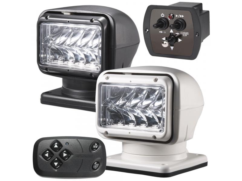 M220 LED zoeklamp ZWART of WIT met dubbele afstandsbediening