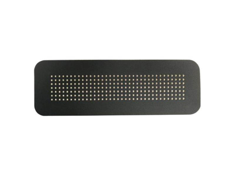 Volledig LED stopmatrix zonneklep bord XL GRIJS