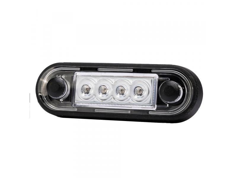 LED markeerlicht voor vlakke montage en buismontage