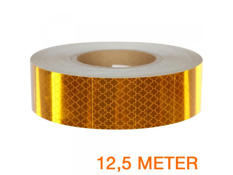 Reflecterende tape ECE R104 GEEL 12,5 meter
