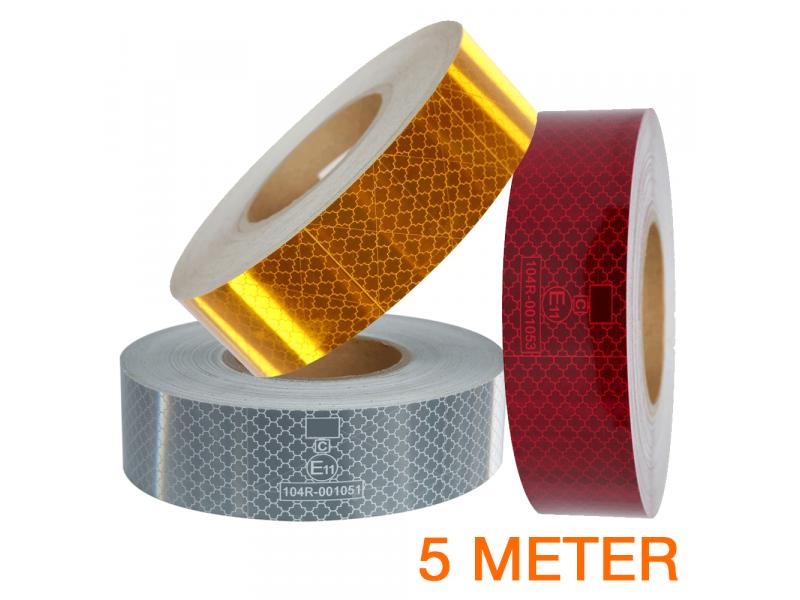 Reflecterende tape 5 meter ECE R104