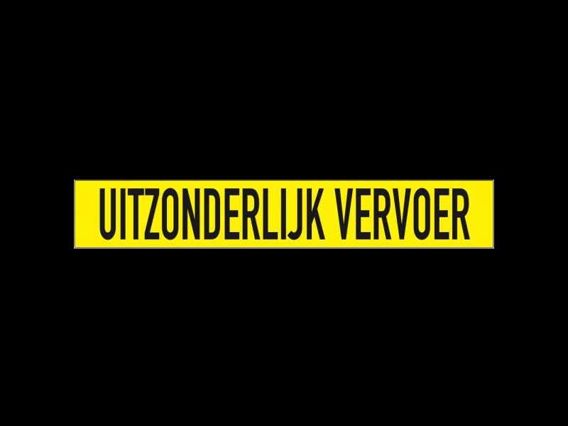 UITZONDERLIJK VERVOER sticker