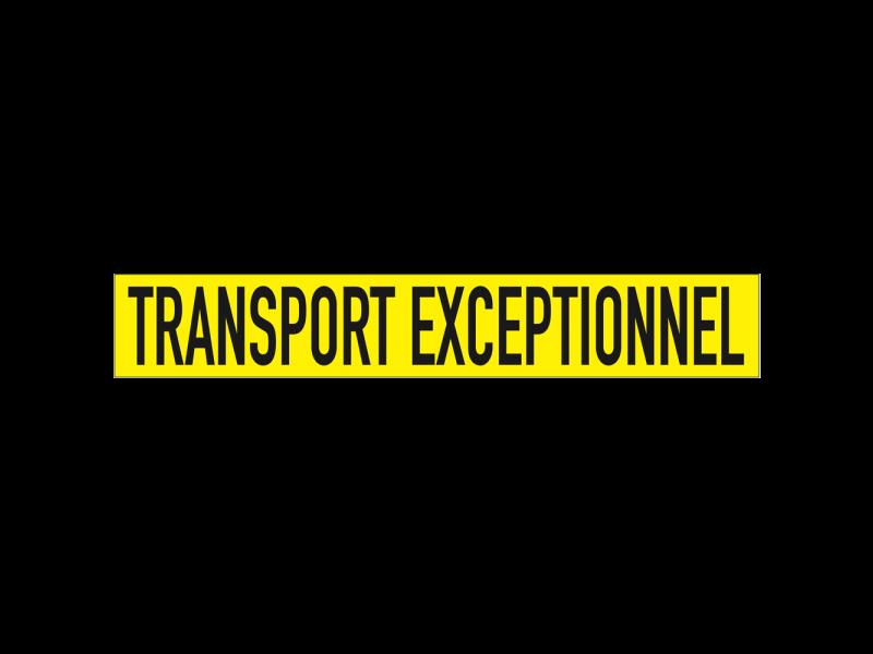 TRANSPORT EXCEPTIONNEL op aluminium bord