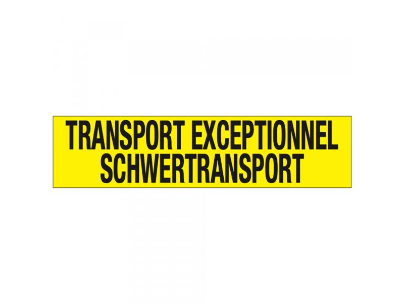TRANSPORT EXCEPTIONNEL/SCHWERTRANSPORT sticker