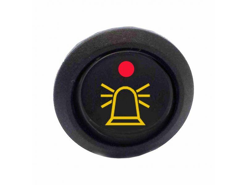 Schakelaar met zwaailicht logo AMBER LED