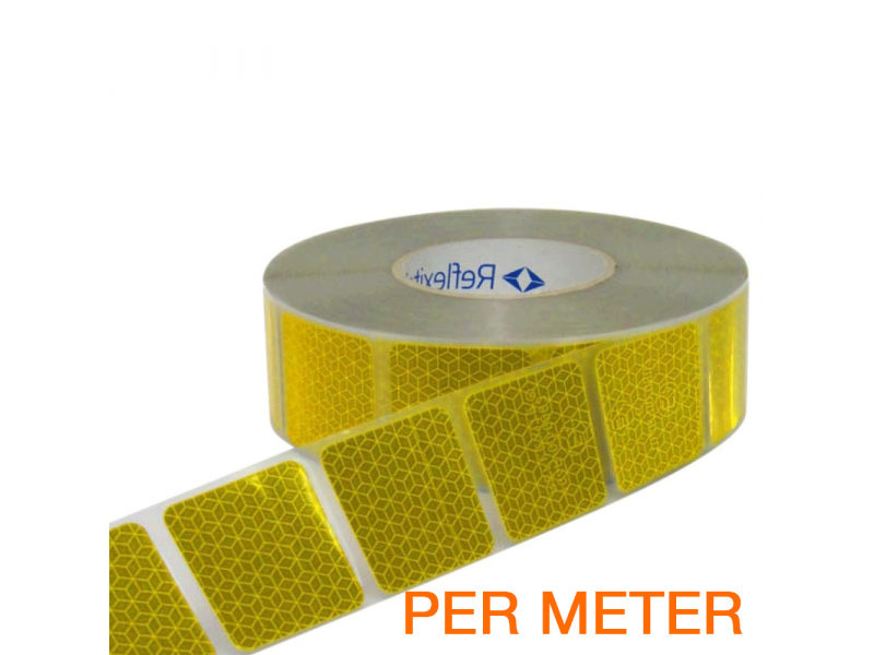 Reflexite Gesegmenteerde reflecterende tape ECE R104 GEEL per METER