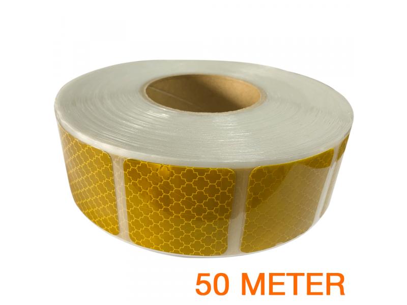 Reflecterende tape gesegmenteerd ECE R104 GEEL 50 meter
