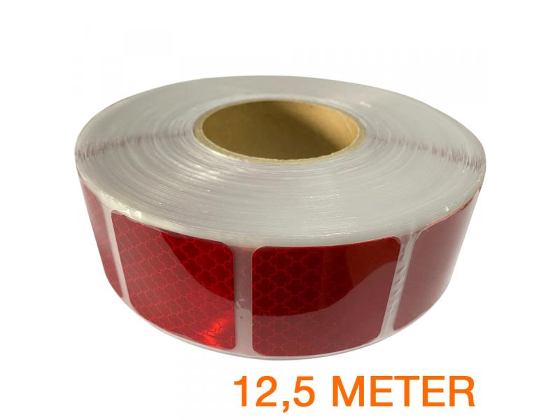Reflecterende tape gesegmenteerd ECE R104 ROOD 12,5 meter