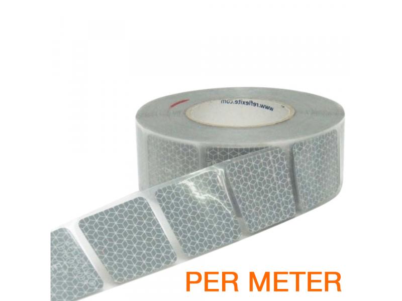 Reflexite Gesegmenteerde reflecterende tape ECE R104 WIT per METER
