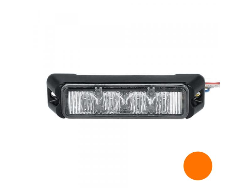 Allround signal Slimline 4 LED flitser AMBER