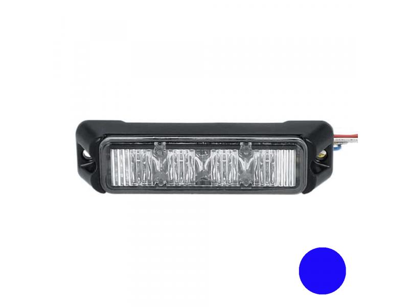 Allround signal Slimline 4 LED flitser BLAUW