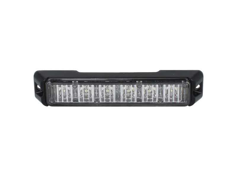 Allround signal Slimline 6 LED flitser WIT