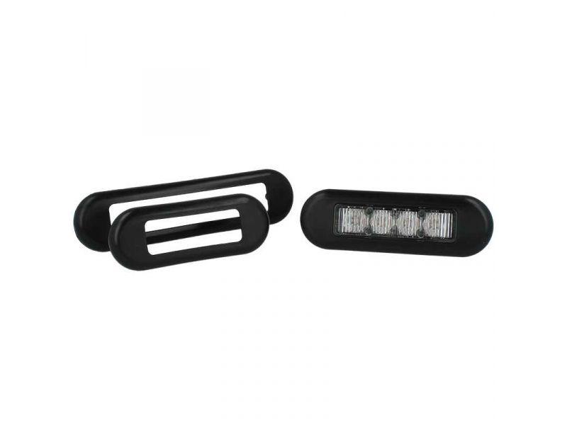 Inbouw rubber Slimline 6 LED flitsers