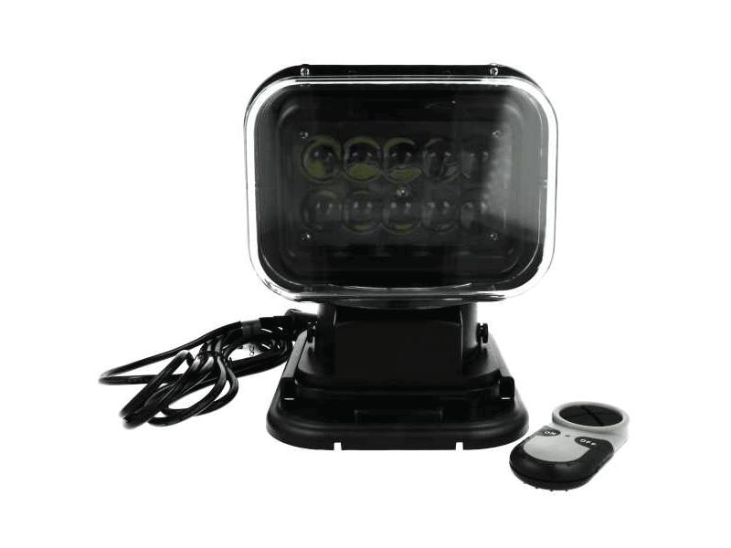 SR50 LED zoeklamp met afstandsbediening ZWART