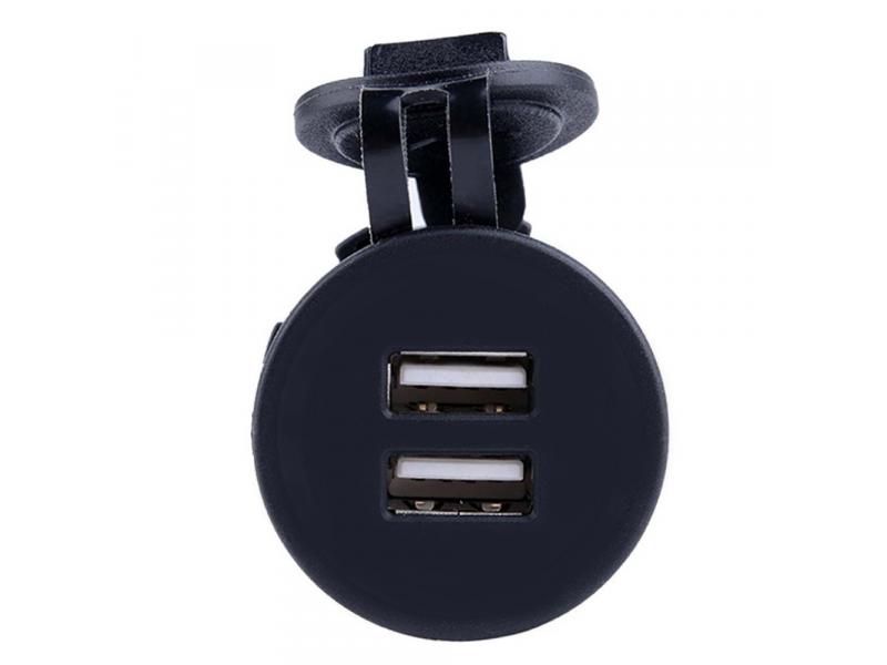 Inbouw USB Adapter 2x