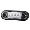 LED markeerlicht voor vlakke montage en buismontage WIT LED 12/36V