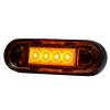 LED markeerlicht voor vlakke montage en buismontage ORANJE LED 12/36V