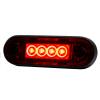 LED markeerlicht voor vlakke montage en buismontage ROOD LED 12/36V