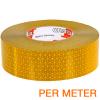 Reflexite VC 104+ Rigid Grade reflecterende tape ECE R104 GEEL per METER