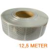 Reflecterende tape gesegmenteerd ECE R104 WIT 12,5 meter