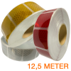 Gesegmenteerde reflecterende tape 12,5 meter ECE R104