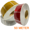 Gesegmenteerde reflecterende tape 50 meter ECE R104