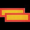 Achtermarkering trailer/aanhanger klasse III 566x200 mm set van 2 als sticker