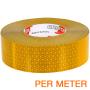 markeringstape per meter geel