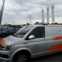 Oranje flitsbalk Transporter