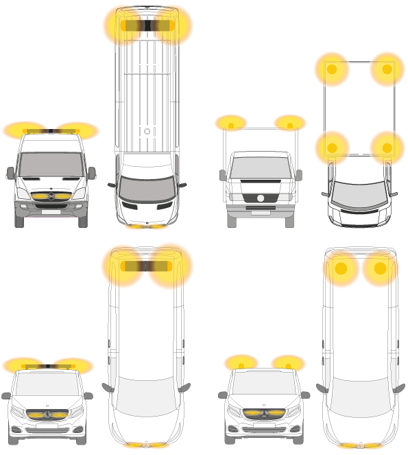 ECE R65 montageregels