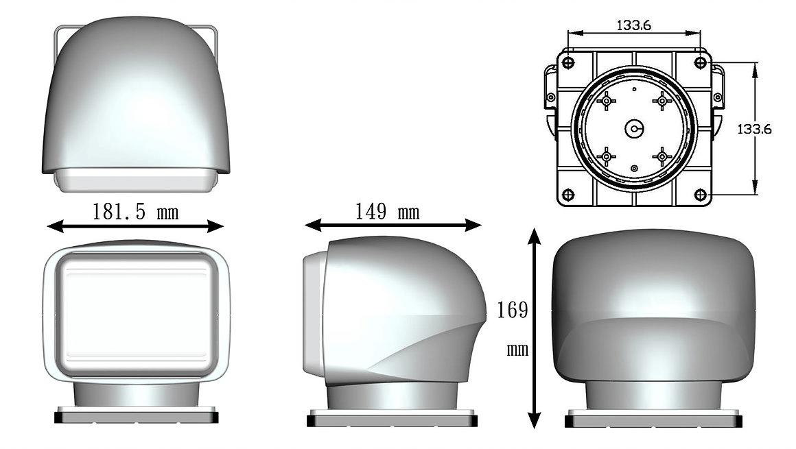 LED zoeklamp zwart