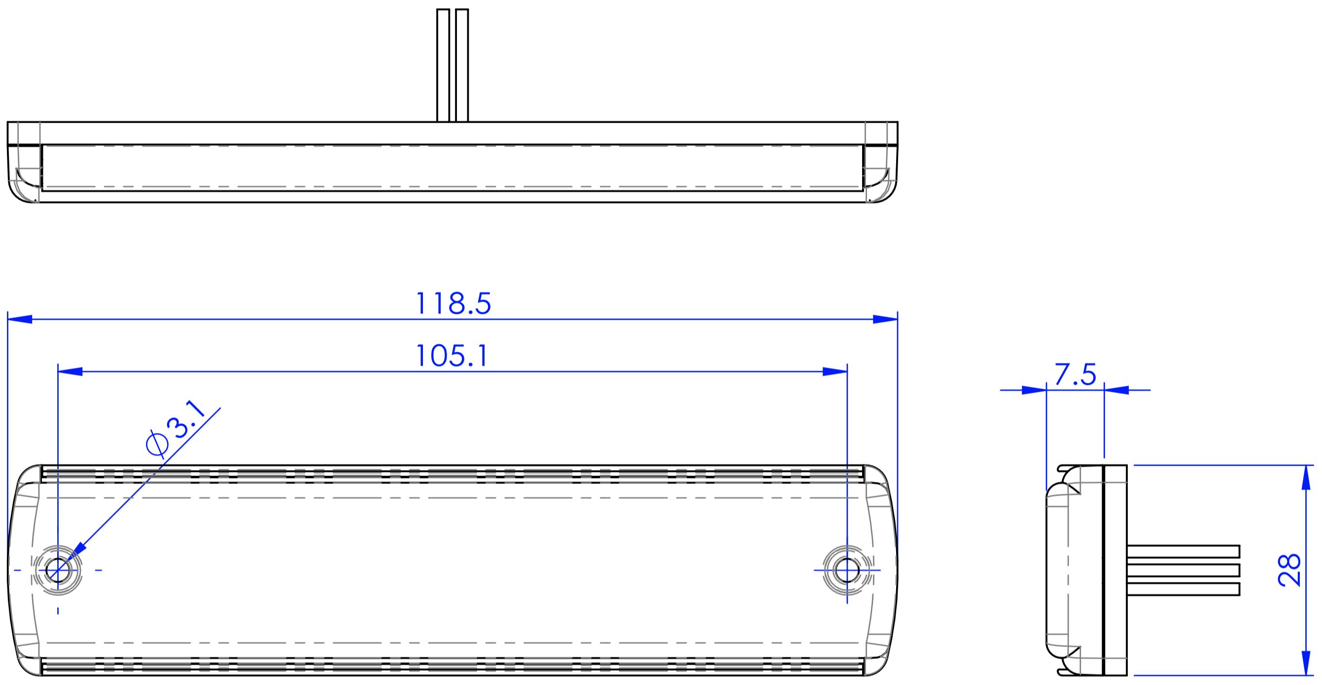G12 platte LED flitser R65 klasse 2