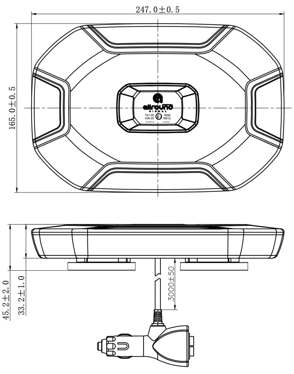 LED flitsbalk tekening